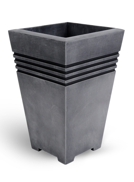 45cm Tall Milano Planter in Pewter Finish