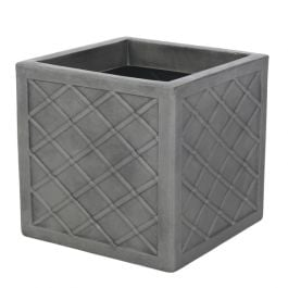 32cm Lazio Planter in Pewter Finish