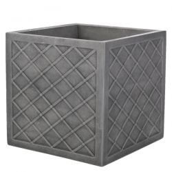 38cm Lazio Planter in Pewter Finish