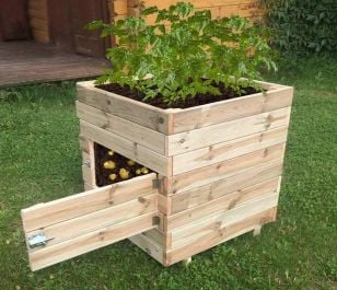60cm (23in) Square Potato Planter with door FSC® by Zest 4 Leisure®