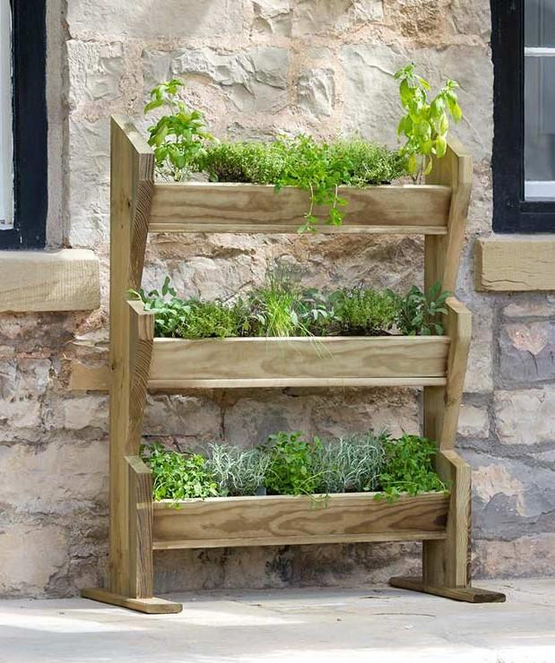 1.19m (3ft 11in) Vertical Plant Herb Stand FSC® by Zest 4 Leisure®