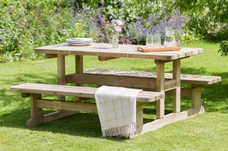 1.6m (5ft 3in) Madison Wooden Picnic Table FSC® by Zest 4 Leisure®