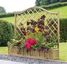 York Wooden Trellis Planter