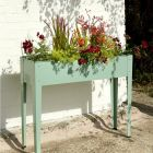 50 Litres - Tall Powder Coated Steel Planter Green - 100cm x 24cm (H80cm)