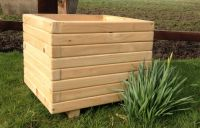 60cm Wooden Pine Large Cube Planter