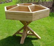 Wooden Hexagonal Raised Herb Planter - H1m x W1m