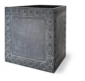 71cm Cromwell Cube Planter in Antique Faux Lead - Large