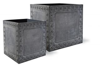 76cm Cromwell Cube Planter in Antique Faux Lead - Extra Large