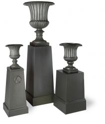36cm Fluted Urn in Faux Lead