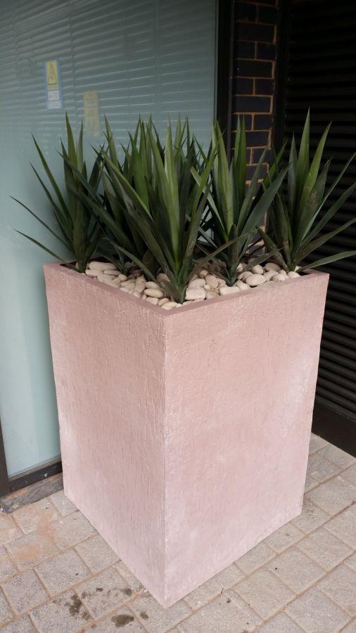 50cm Fibreglass Beton Square Planter 163 264 99