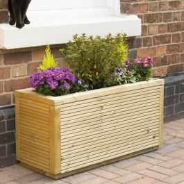 1m (3ft 3in) Ellesmere Wooden Rectangular Planter FSC® by Rowlinson®