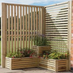 Corner Set Slatted Screens