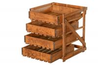 Four Drawer Vegetable Storage Unit