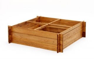 Raised Bed with Four Sections 1m² (H30cm)