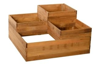 Stepped Grow Bed with Four Sections 90cm² (H46cm)