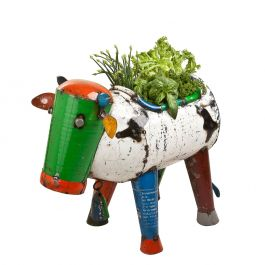 L60cm Clarence The Cow Medium Planter