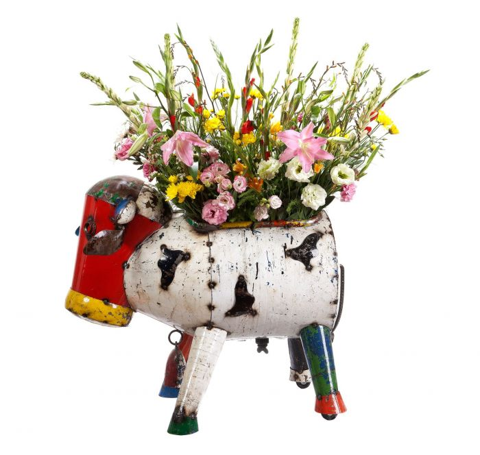 L83cm Clarence The Cow Planter Large