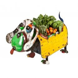 H65cm Hound Dog Planter
