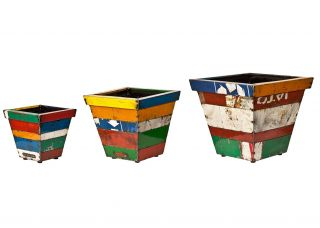 Madrid Square Planter - Mixed Set of 3 - H29cm/H37cm/H46cm