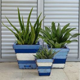 Collaroy Square Planter - Mixed Set of 3 - H29cm/H37cm/H46cm