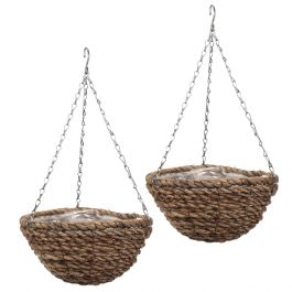 Set of Two 30cm Rafiki Hanging Basket Planters by Smart Garden