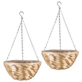 Set of Two 30cm Gilgil Hanging Basket Planters by Smart Garden