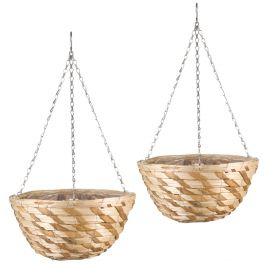 Set of Two 36cm Gilgil Hanging Basket Planters by Smart Garden