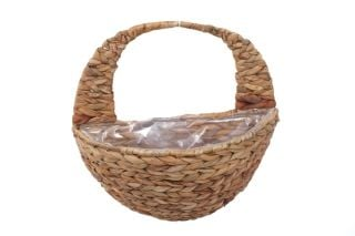 Smart Garden Hyacinth Hanging Wall Basket Natural Planter - 40cm (16