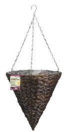 30cm Hyacinth Hanging Cone Dark Planter - by Smart Garden