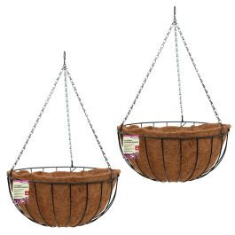 Set of Two 36cm Hanging Basket Planters by Smart Garden