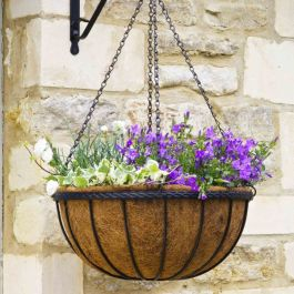 30cm Saxon Hanging Basket Planter - by Smart Garden