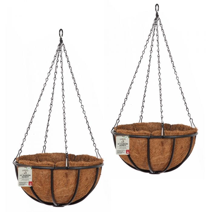 Set of Two 36cm Forge Hanging Basket Planters by Smart Garden