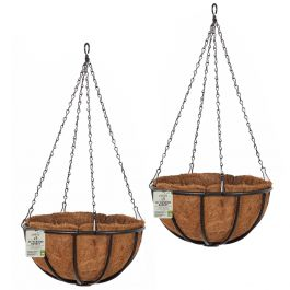 Set of Two 40cm Forge Hanging Basket Planters by Smart Garden
