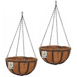 Set of Two 45cm Forge Hanging Basket Planters by Smart Garden