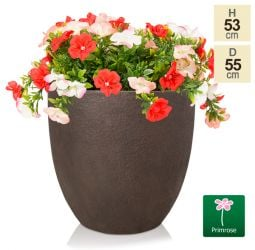 H52.5cm Extra Large Egg-Shape Rust Effect Fiberclay Planter