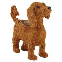 24cm Coco Fibre Dog Shaped Planter