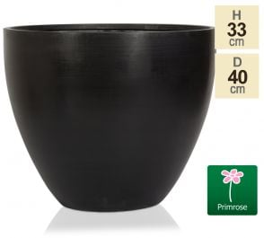 D40cm Light Polystone Extra Large Egg Shape Planter in Black
