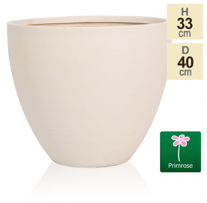 D40cm Light Polystone Extra Large Egg Shape Planter in White
