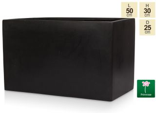 L50cm Light Polystone Large Trough in Black