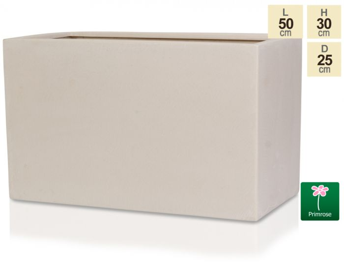 L50cm Light Polystone Large Trough in White