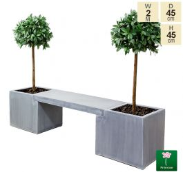 2m Super Light Polystone Planter Bench - by Primrose™