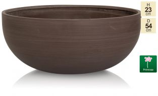 D54cm Extra Large Brown Polystone Bowl Planter - By Primrose®