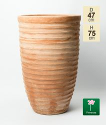 H75cm Terracotta Tapered Cylinder Planter