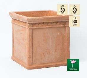 H30cm Small Light Terracotta Small Cube Pot