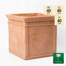 H40cm Medium Light Terracotta Medium Cube Planter