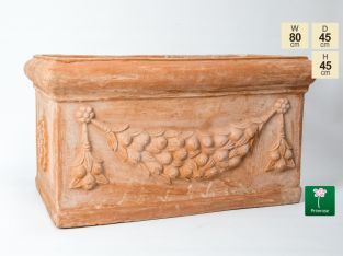 W80cm Large Terracotta Trough With Detail