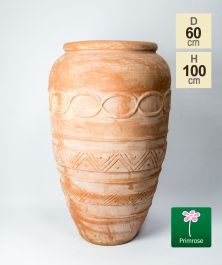 H100cm Terracotta Tall Vase Planter
