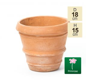 D17.5cm Terracotta Rolled Rim Pot