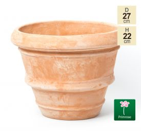 D27cm Terracotta Rolled Rim Pot