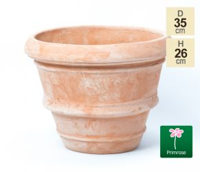 D34.5cm Terracotta Rolled Rim Planter
